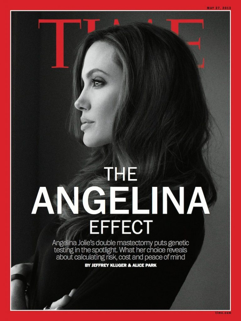"""The Angelina effect"" TIME, MAY 27, 2013"